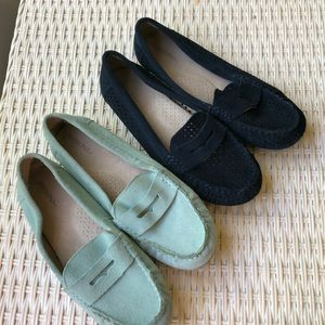 Merona Teal and Navy Blue Loafers